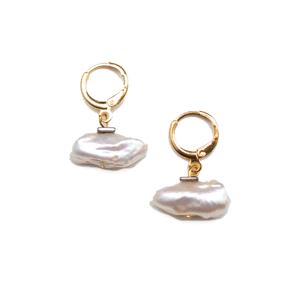 Pearl Huggie Earrings - Honey Rose & K