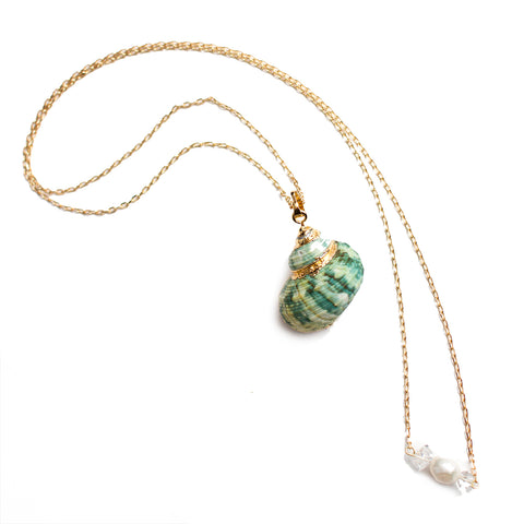 Green Conch Shell Necklaces
