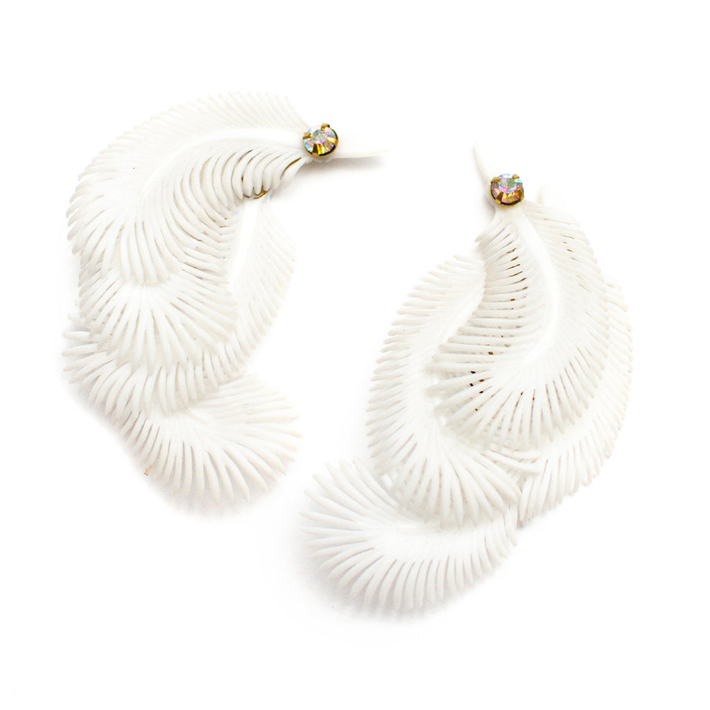 Feather France Earrings - Honey Rose & K