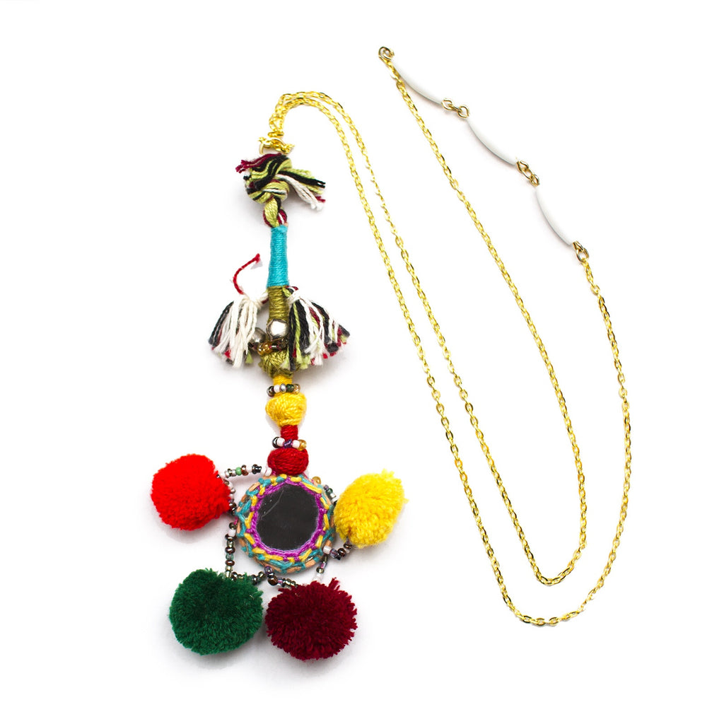 Pom Pom Paradise Necklaces - Honey Rose & K