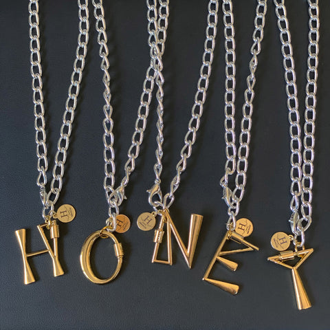 Alphabet Clasp Necklaces