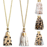 Animal Print Hide Tassel Necklaces