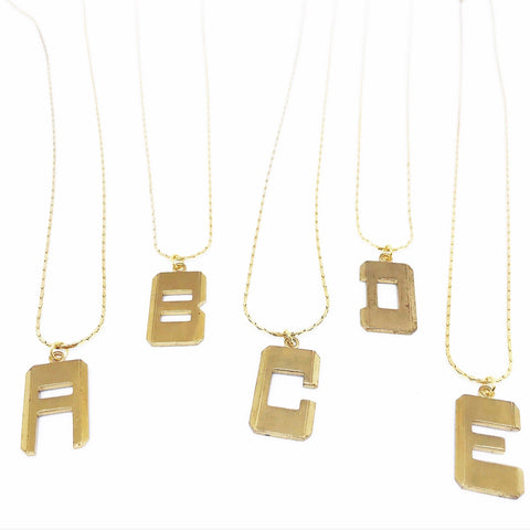 Block Alphabet Necklaces