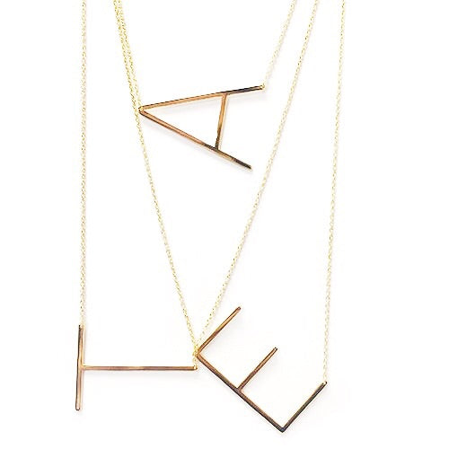 Letter Necklaces - Honey Rose & K