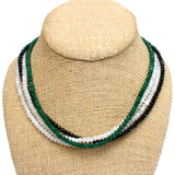 Crystal beaded necklaces