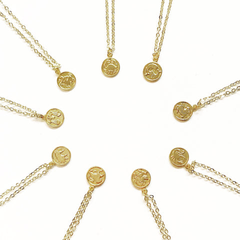Zodiac Delicate Vintage Necklaces
