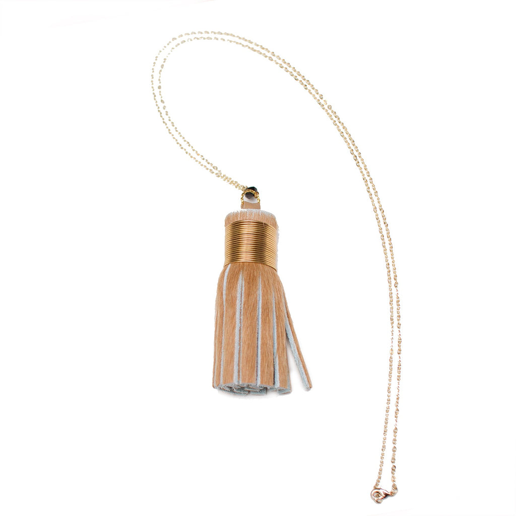 Animal Print Hide Tassel Necklaces - Honey Rose & K