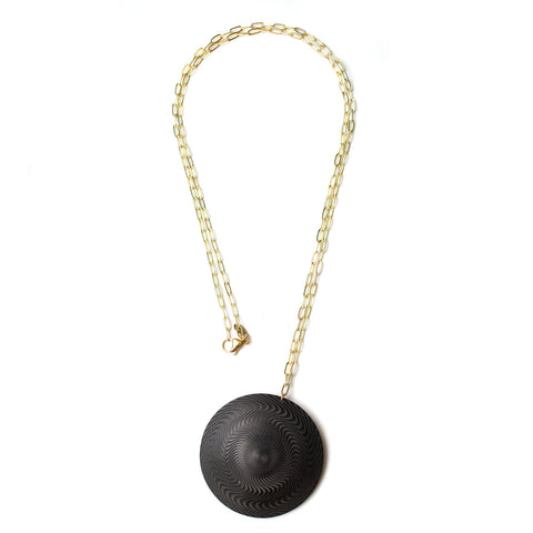 Black Mod Buckle Necklaces