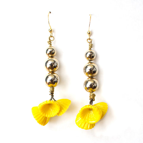 Yellow Bouquet Earrings