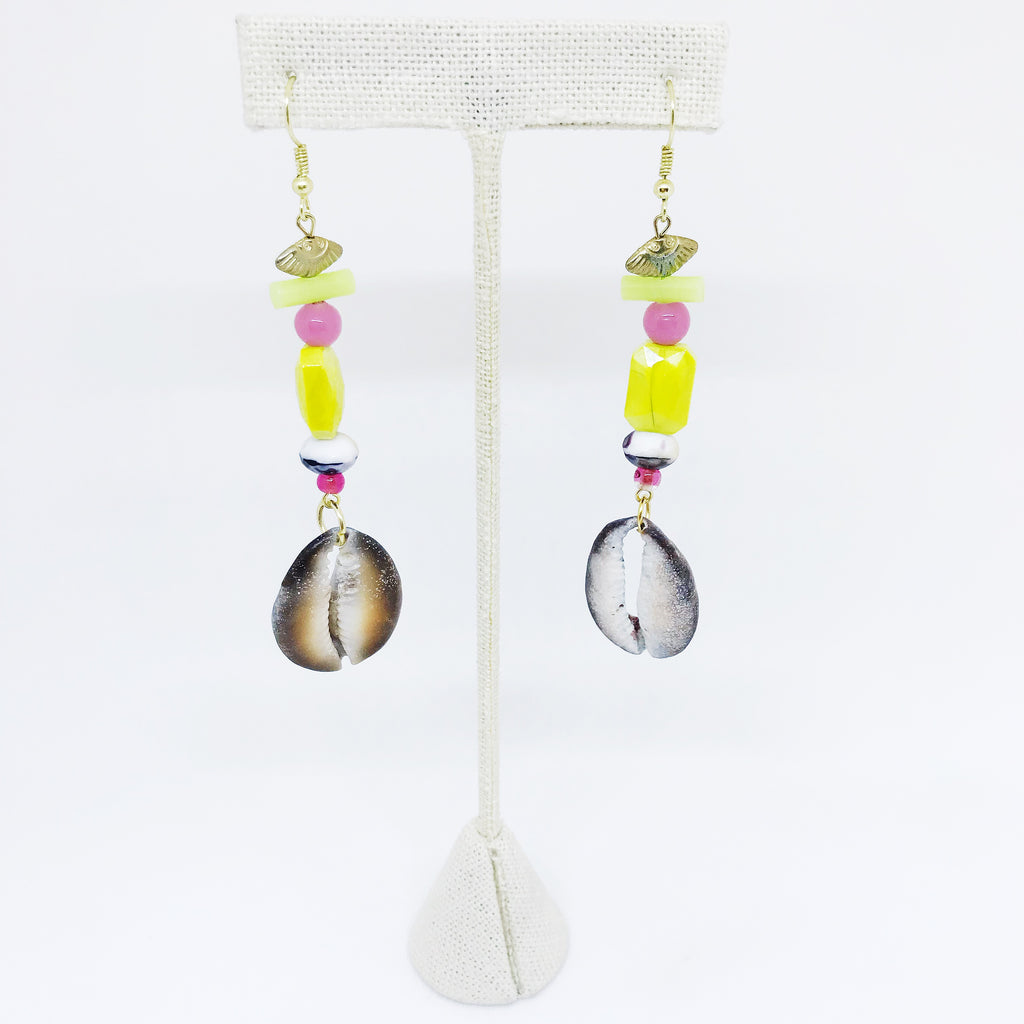 Beaded Shell Earrings