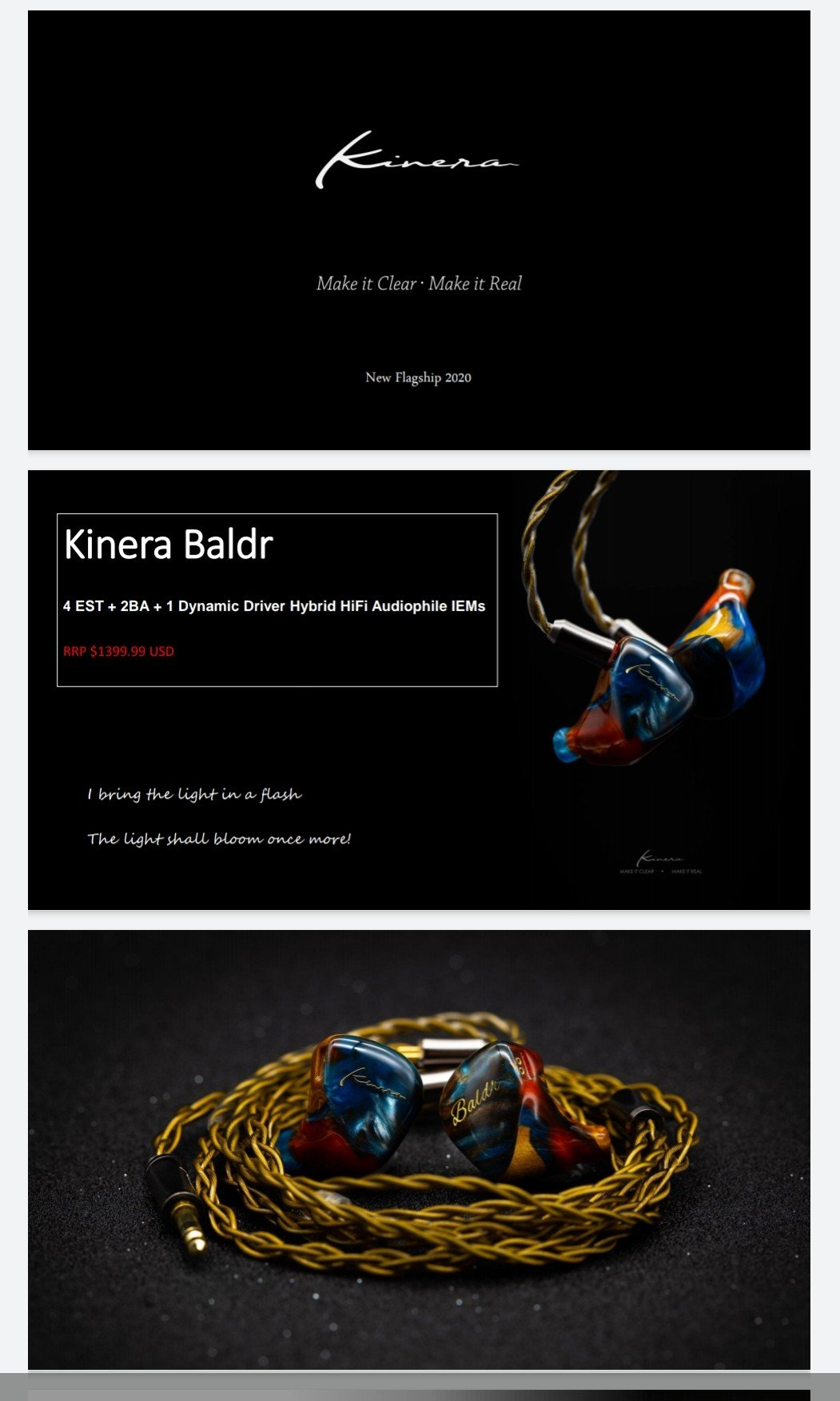 Kinera Baldr - Electrostatic/BA/Dynamic  In-Ears