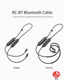 FiiO - RC-BT - HiFi Wireless Bluetooth Lightweight Headphone/Earphone Replacement MMCX Cable with aptX/AAC/SBC support and Mic (Ships Next Day)