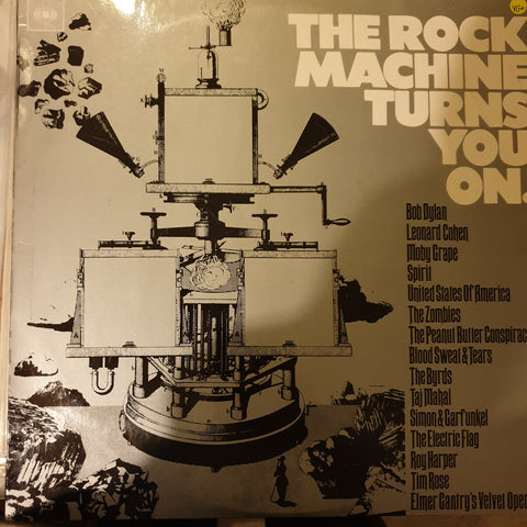 The Rock Machine Turns You On ‎– Various  ‎– Vinyl LP Record - Opened  - Very-Good+ Quality (VG+)