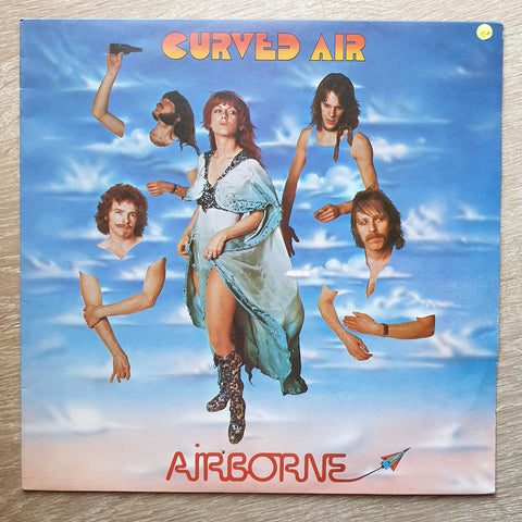 Curved Air ‎– Airborne  ‎– Vinyl LP Record - Opened  - Very-Good+ Quality (VG+) - C-Plan Audio
