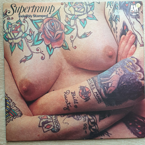 Supertramp ‎– Indelibly Stamped -  Vinyl LP Record - Very-Good+ Quality (VG+)