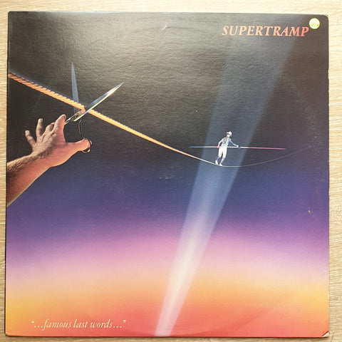 "Supertramp ‎– ""...Famous Last Words..."" -  Vinyl LP Record - Very-Good+ Quality (VG+)"