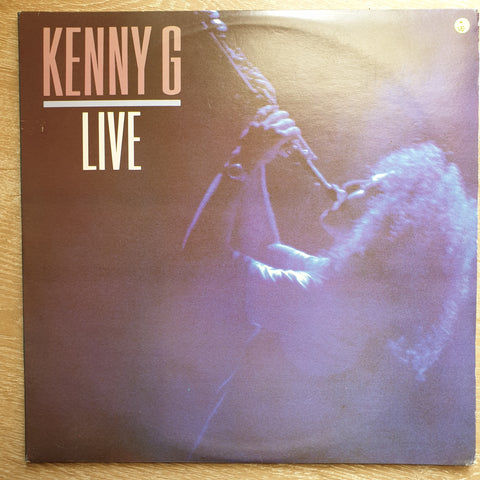 Kenny G - Live - Vinyl LP Record - Opened  - Very-Good Quality (VG)