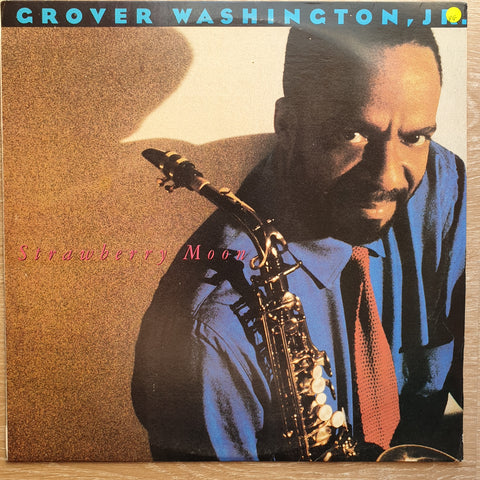 Grover Washington, Jr. ‎– Strawberry Moon -  Vinyl LP Record - Very-Good+ Quality (VG+)