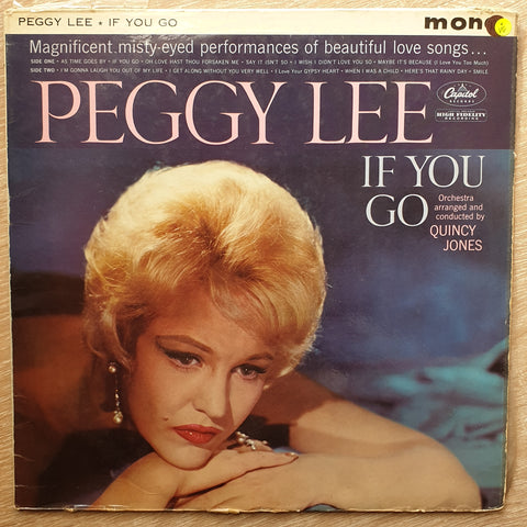 Peggy Lee ‎– If You Go - Vinyl LP Record - Opened  - Very-Good Quality (VG)