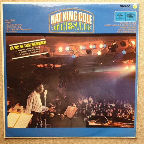 Nat King Cole ‎– At The Sands - Vinyl Record - Very-Good+ Quality (VG+)
