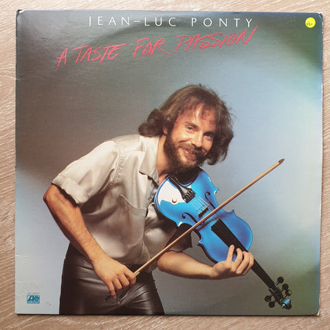 Jean-Luc Ponty ‎– A Taste For Passion - Vinyl LP - Opened  - Very-Good+ Quality (VG+)