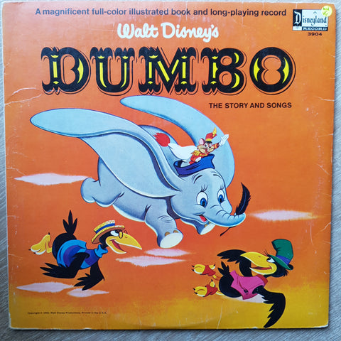 Walt Disney's Dumbo - The Story and Songs - Vinyl LP - Opened  - Very-Good+ Quality (VG+)