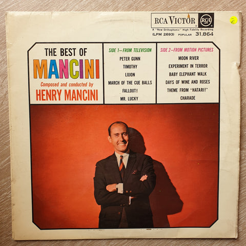 Henry Mancini ‎– The Best Of Mancini - Vinyl LP Record - Opened  - Very-Good- Quality (VG-)