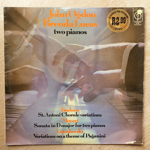 John Ogdon / Brenda Lucas ‎– Two Pianos - Vinyl LP Record - Very-Good+ Quality (VG+)