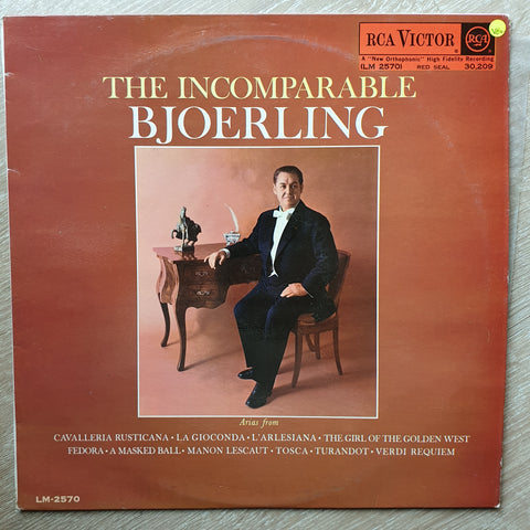 Jussi Björling ‎– The Incomparable Bjoerling - Vinyl LP Record - Very-Good+ Quality (VG+)