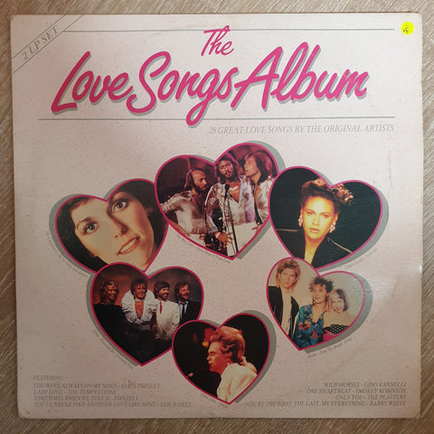 The Love Songs Album Vol 1 - 28 Original Hits - Double  - Vinyl LP Record - Opened  - Very-Good- Quality (VG-)