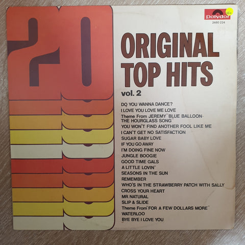 20 Original Top Hits Vol 2 -  Vinyl LP Record - Very-Good+ Quality (VG+)