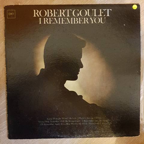 Robert Goulet ‎– I Remember You -  Vinyl LP Record - Very-Good+ Quality (VG+)
