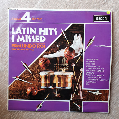 Edmundo Ros And His Orchestra ‎– Latin Hits I Missed - Vinyl LP Record - Opened  - Very-Good Quality (VG)