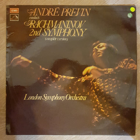 André Previn Conducts London Symphony Orchestra / Rachmaninov ‎– 2nd Symphony (Complete Version) -  Vinyl Record - Very-Good+ Quality (VG+)