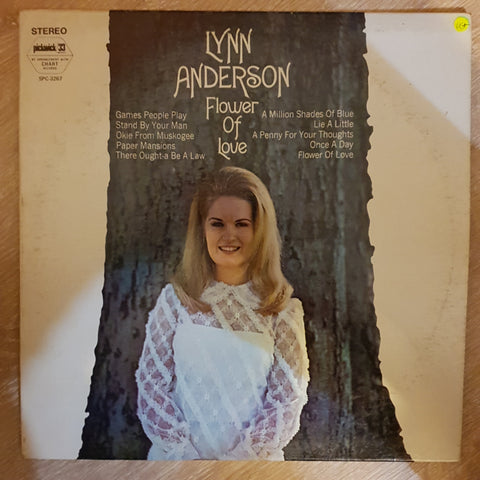 Lynn Anderson ‎– Flower Of Love -  Vinyl Record - Very-Good+ Quality (VG+)