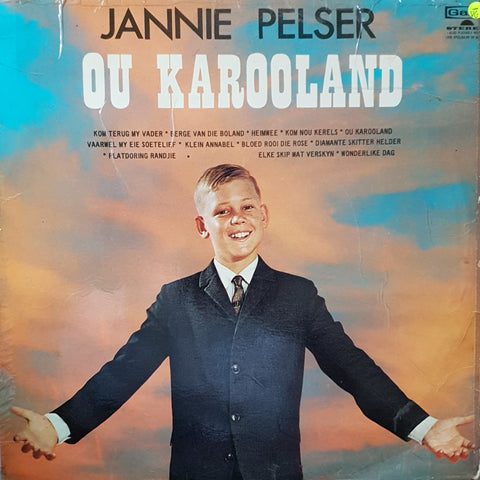 Jannie Pelser - Ou Karooland - Vinyl LP Record - Opened  - Very-Good- Quality (VG-)