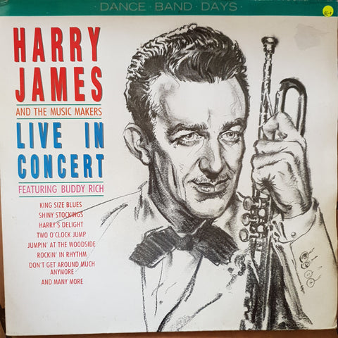 Harry James And The Music Makers ‎– Live In Concert -  Vinyl LP Record - Very-Good+ Quality (VG+)