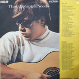 José Feliciano ‎– That The Spirit Needs - Vinyl LP Record - Opened  - Very-Good Quality (VG)