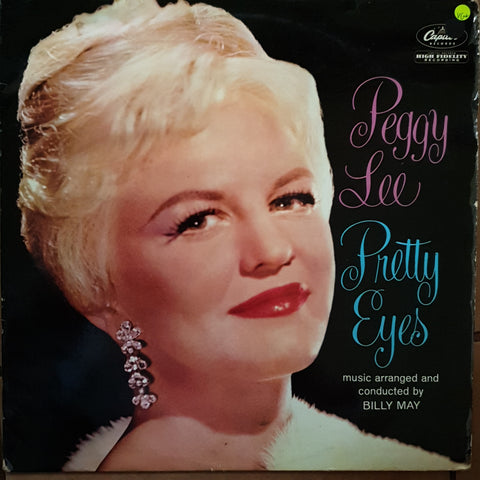 Peggy Lee ‎– Pretty Eyes -  Vinyl LP Record - Very-Good+ Quality (VG+)