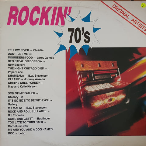 Rockin' 70's - Various - Original Artists- Vinyl LP Record - Opened  - Very-Good- Quality (VG-)