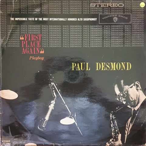 "Paul Desmond ‎– ""First Place Again"" Playboy -  Vinyl LP Record - Very-Good+ Quality (VG+)"