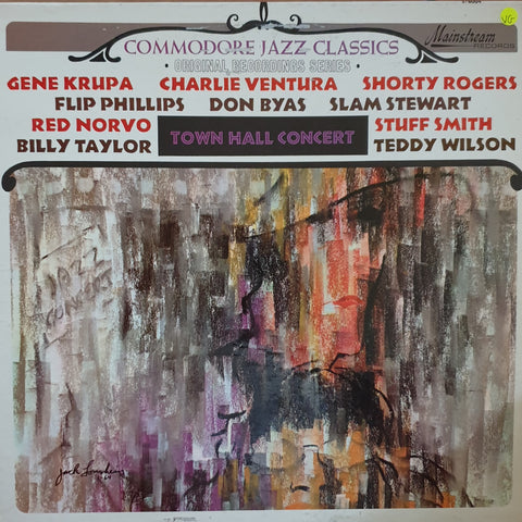Commodore Jazz Classics - Original Recordings Series - Town Hall Concert - Vinyl LP Record - Opened  - Very-Good Quality (VG)