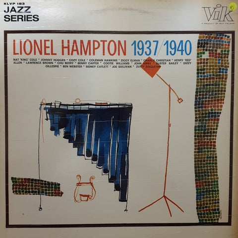 Lionel Hampton ‎– 1937-1940 - Vinyl Record - Opened  - Very-Good Quality (VG)