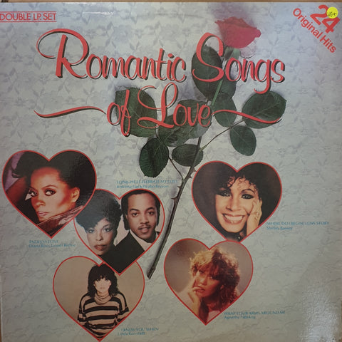 Romantic Songs Of Love - 24 Original Hits -  Double Vinyl LP Record - Very-Good+ Quality (VG+)