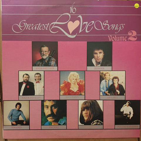16 Greatest Love Songs - Vol 2 - Original Artists -  Vinyl LP Record - Very-Good+ Quality (VG+)