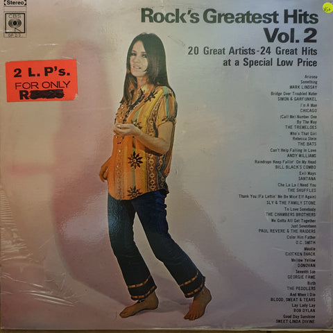 Rock's Greatest Hits - Vol 2 -  Double Vinyl LP Record - Very-Good+ Quality (VG+)