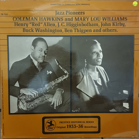 Coleman Hawkins And Mary Lou Williams - Jazz Pioneers -  Vinyl LP Record - Very-Good+ Quality (VG+)