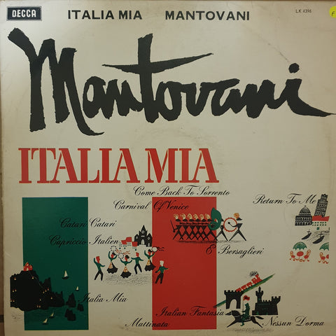 Mantovani - Italia Mia  - Vinyl LP Record - Opened  - Fair Quality (F)