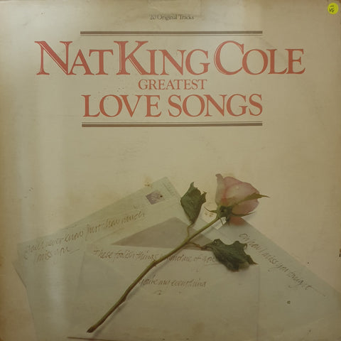 Nat King Cole - Greatest Love Songs - Vinyl LP Record - Opened  - Very-Good- Quality (VG-)