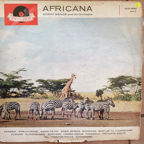 Horst Wende and his Orchestra - Africana: Africa in Rhythm  - Vinyl LP Record - Opened  - Fair/Good Quality (F/G)